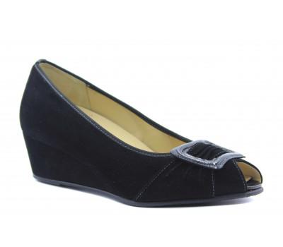 Туфли Hassia замшевые черные 3-304812