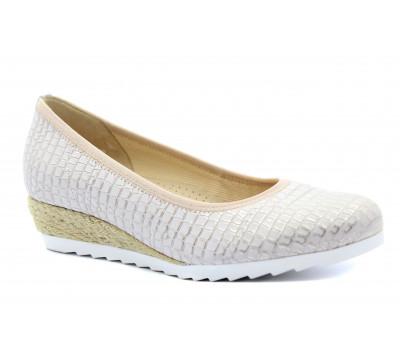 Туфли Gabor кожаные серо-розовые 62641