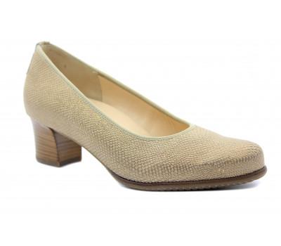 Туфли Hassia бежевые кожаные