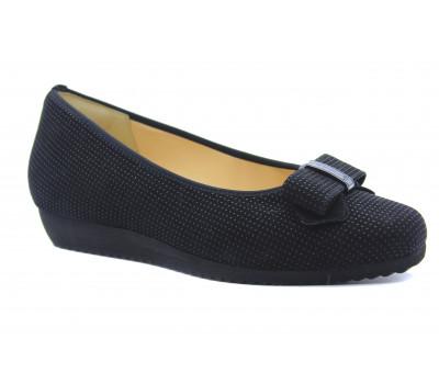 Туфли Hassia черные замшевые 4-301413
