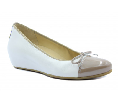 Туфли Hassia белые кожаные 7-302134
