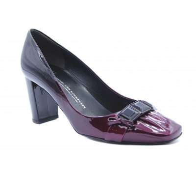 Модельные туфли K&S из лакированной кожи черно-фиолетовые 72570-583