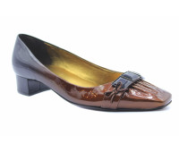 Модельные туфли K&S из лакированной кожи черно-бронзовые