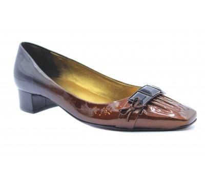 Модельные туфли K&S из лакированной кожи черно-бронзовые 38100-584
