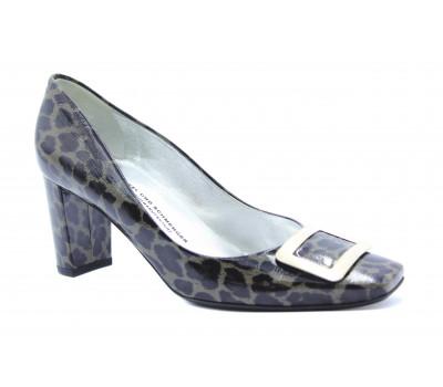 Модельные туфли K&S из лакированной кожи черно-серые 72510-577