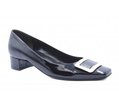 Модельные туфли K&S из лакированной кожи черные 38010-540