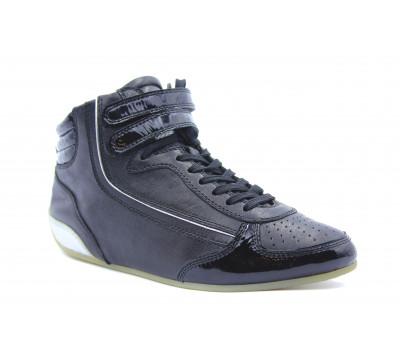 Кроссовки K&S кожаные черные 11040-100