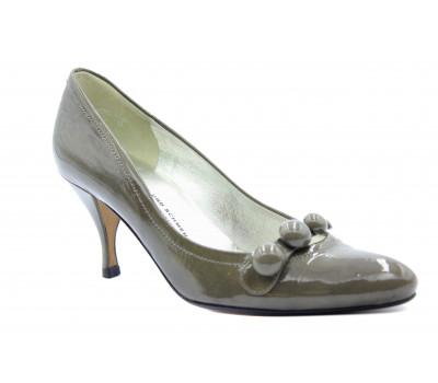 Модельные туфли K&S из лакированной кожи серые 78150-351