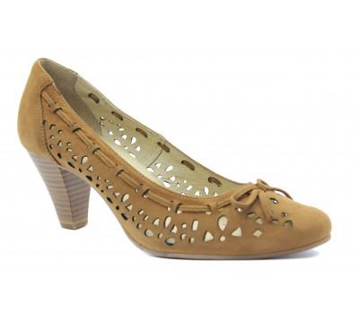 Туфли Caprice замшевые рыжие 22402-28
