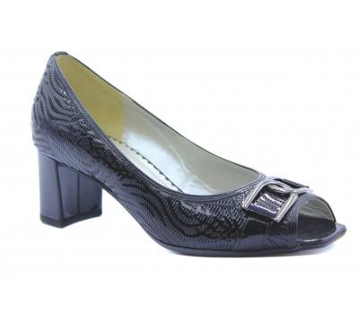 Туфли Gabor черные из лакированной кожи 81664