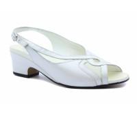 Босоножки Meisi белые кожаные