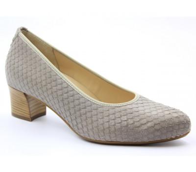 Модельные туфли Hassia кожаные серые 5-304924