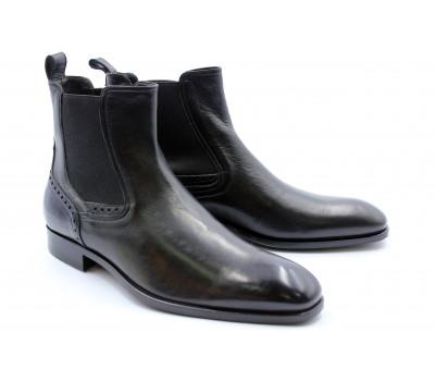 Сапоги ROMIT кожаные черные 11157