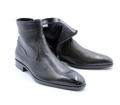 Сапоги ROMIT на кашемире кожаные черные