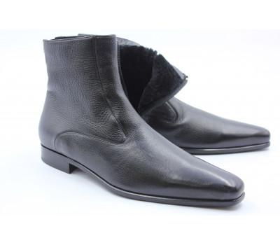 Зимние сапоги ROMIT кожаные черные 10732