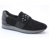 Демисезонные туфли Gabor замшевые черные