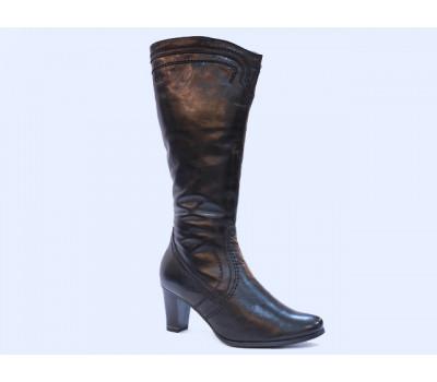 Сапоги зимние Caprice кожаные черные 26519-21