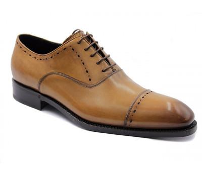 Туфли ROMIT HAND MADE кожаные рыжие 11230